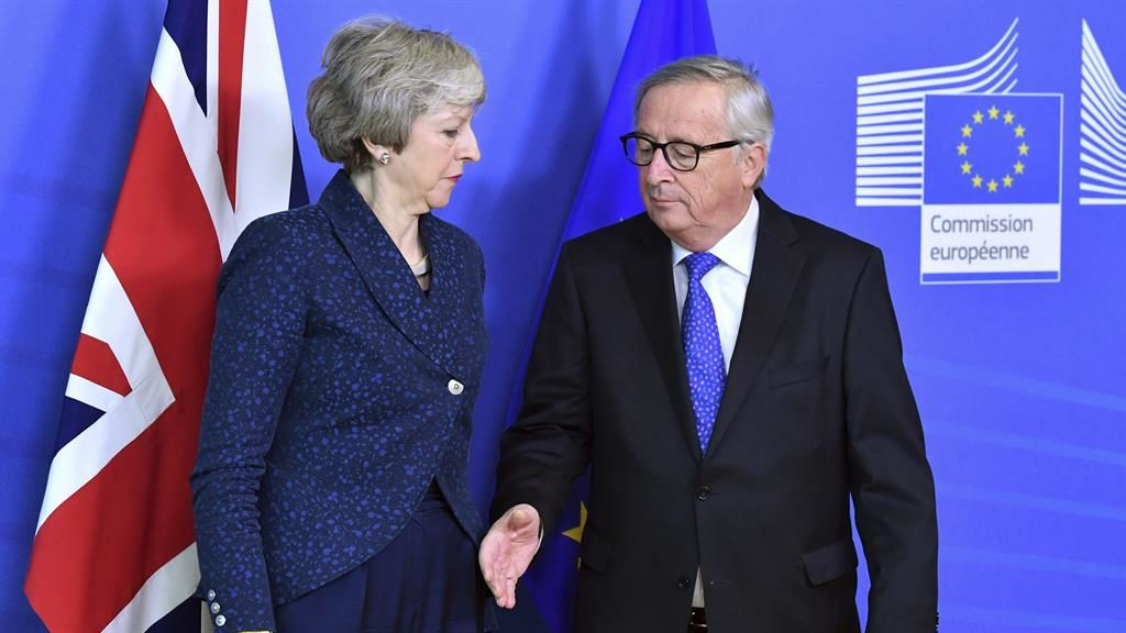 Theresa May holds 'robust' meeting with EU president in crunch talks