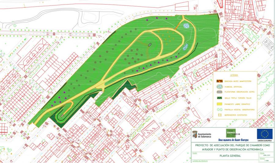 Aprobada la licitación de las obras para convertir el Parque de Chamberí en un mirador con un punto de observación astronómica
