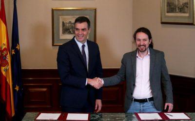 El Gobierno de Sánchez e Iglesias con separatistas ya espanta a los inversores